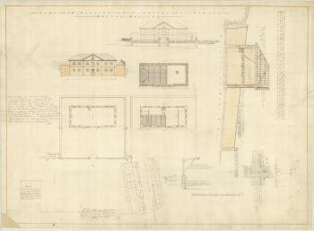 Plan and section of Commissariat Store, Moreton Bay