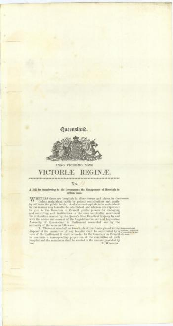The Hospitals Act of 1865
