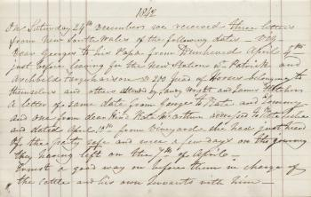 Letter from Patrick Leslie papers, 1842
