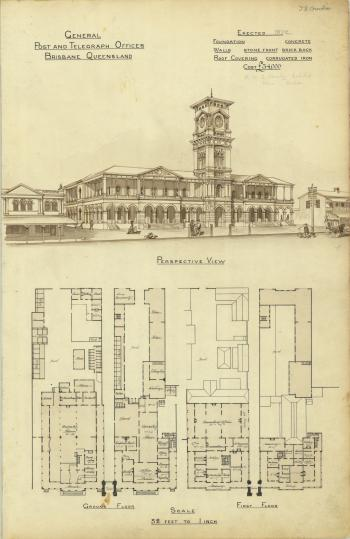 Plan of the General Post and Telegraph Offices, Brisbane