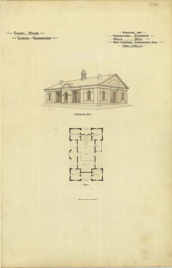 Architectural plan of the Court House, Gympie