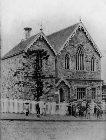 Normal School building on the corner of Edward and Adelaide Streets, Brisbane